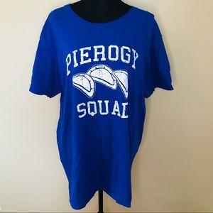 2/$20 Blue Pierogy Squad Graphic TShirt Size XL